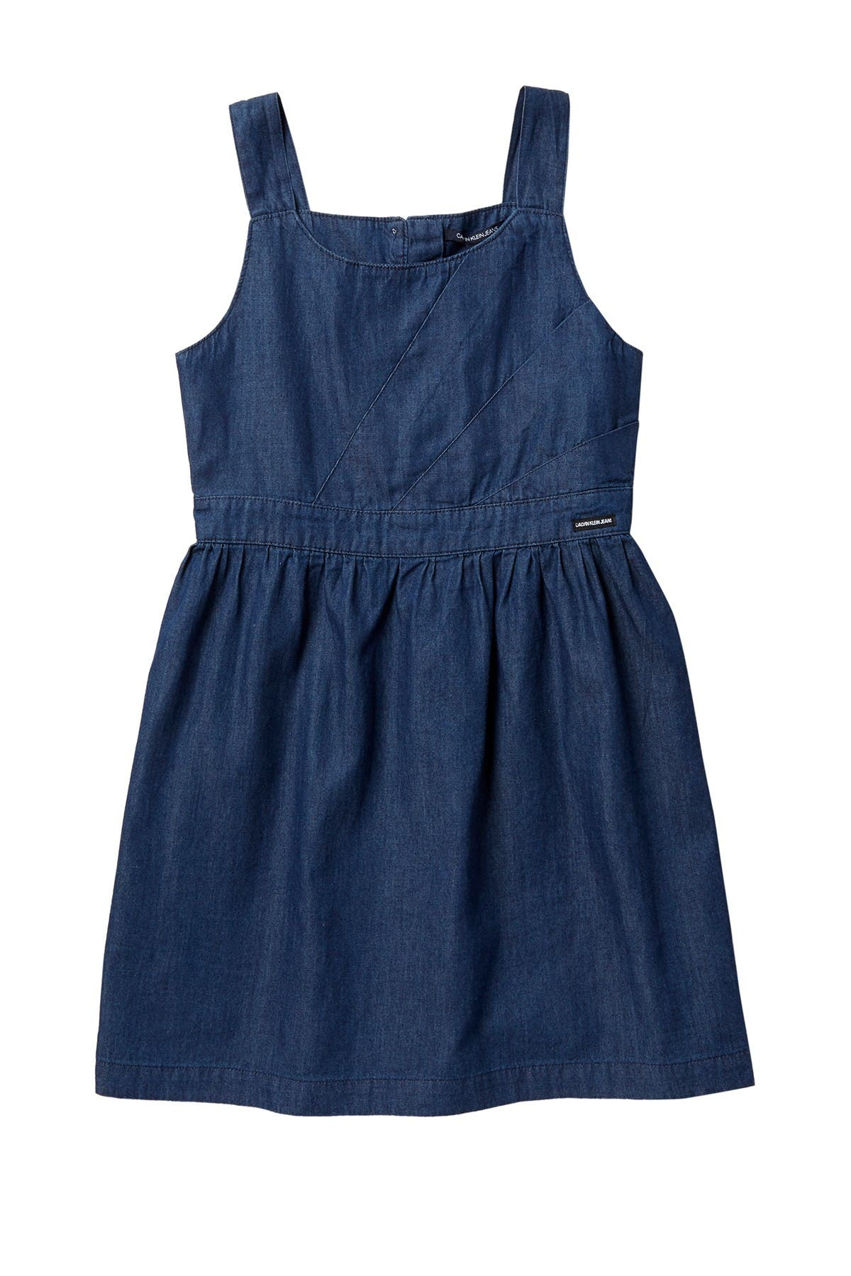 Image of Calvin Klein Origami Chambray Dress