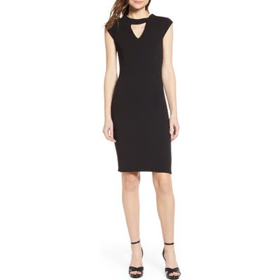 Sentimental Ny Victorious Keyhole Body-Con Dress, Black