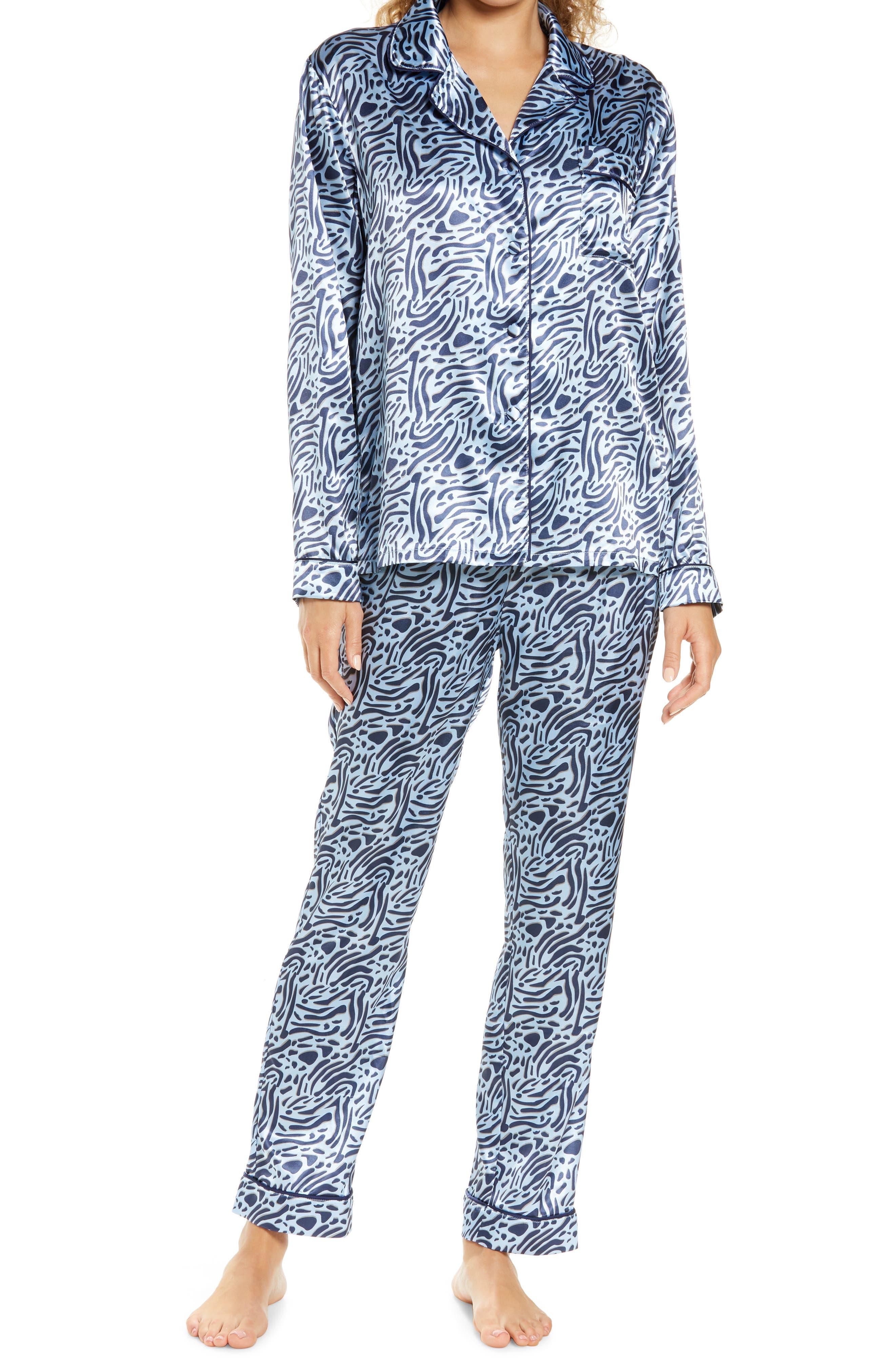 Roseanne Animal Print Satin Pajamas