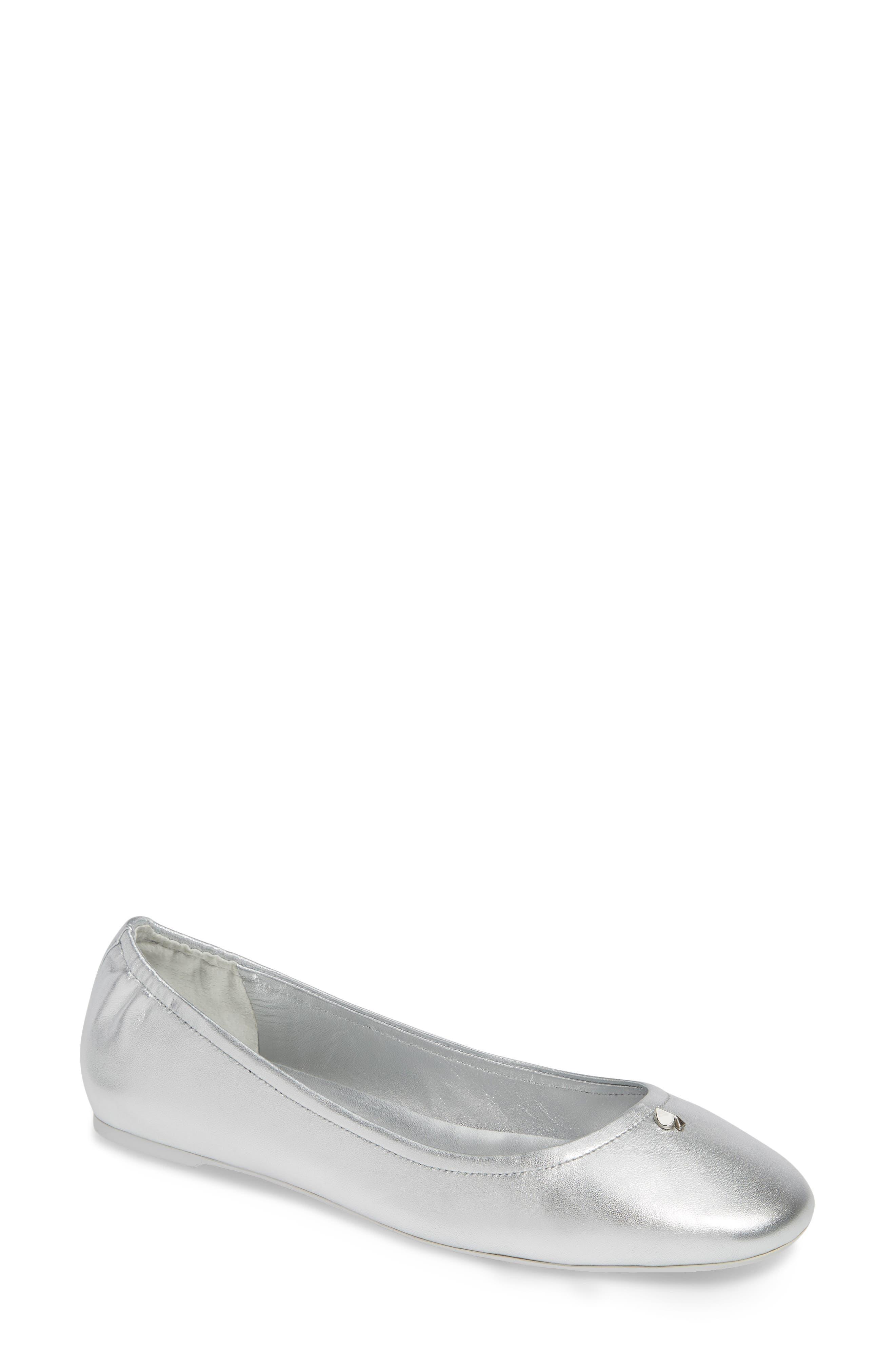 Kate Spade New York Kora Ballet Flat- Metallic