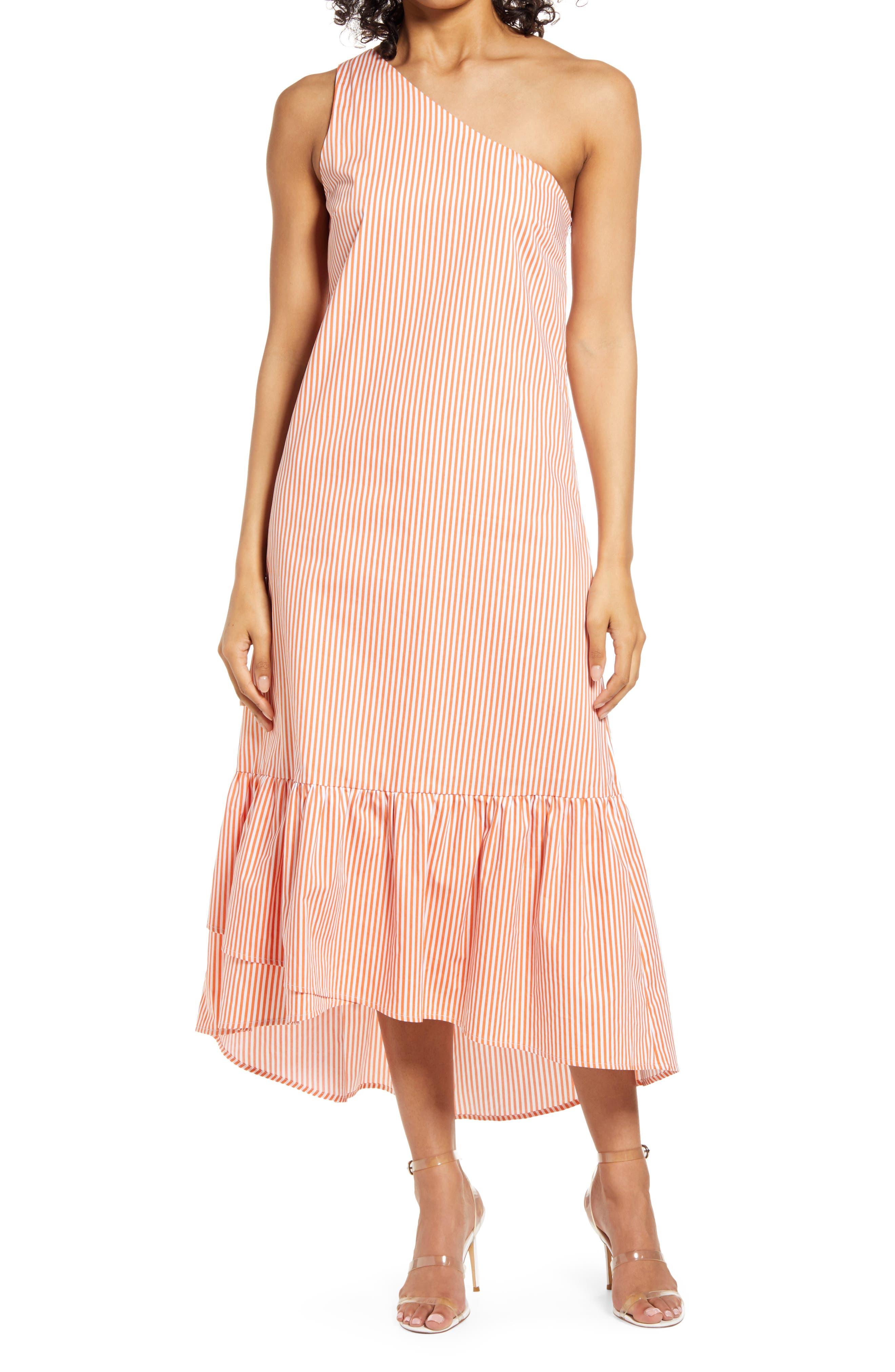 Tiered One-Shoulder Dress