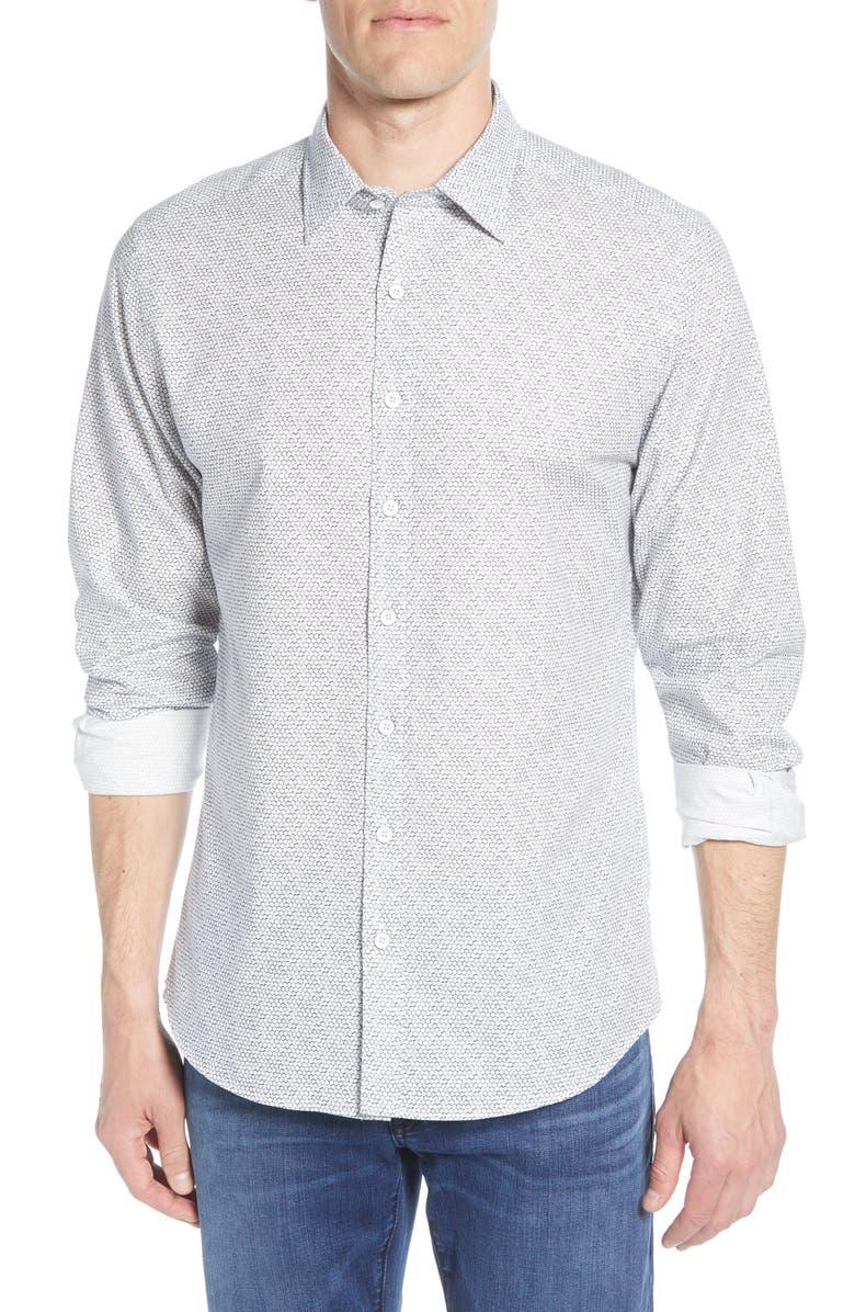 RODD & GUNN Berkely Regular Fit Pattern Button-Up Shirt, Main, color, 111