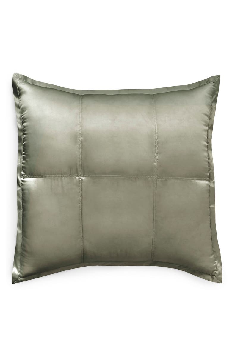 DONNA KARAN NEW YORK Donna Karan Collection 'Exhale' Quilted Silk Charmeuse Euro Sham, Main, color, 340