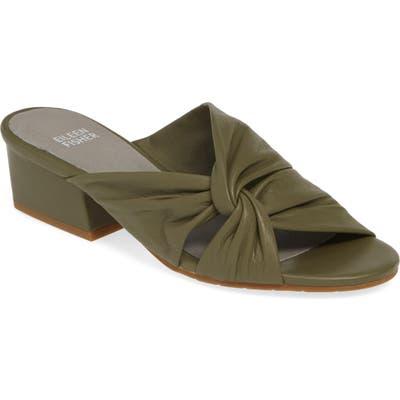 Eileen Fisher Petula Twisted Slide Sandal- Green