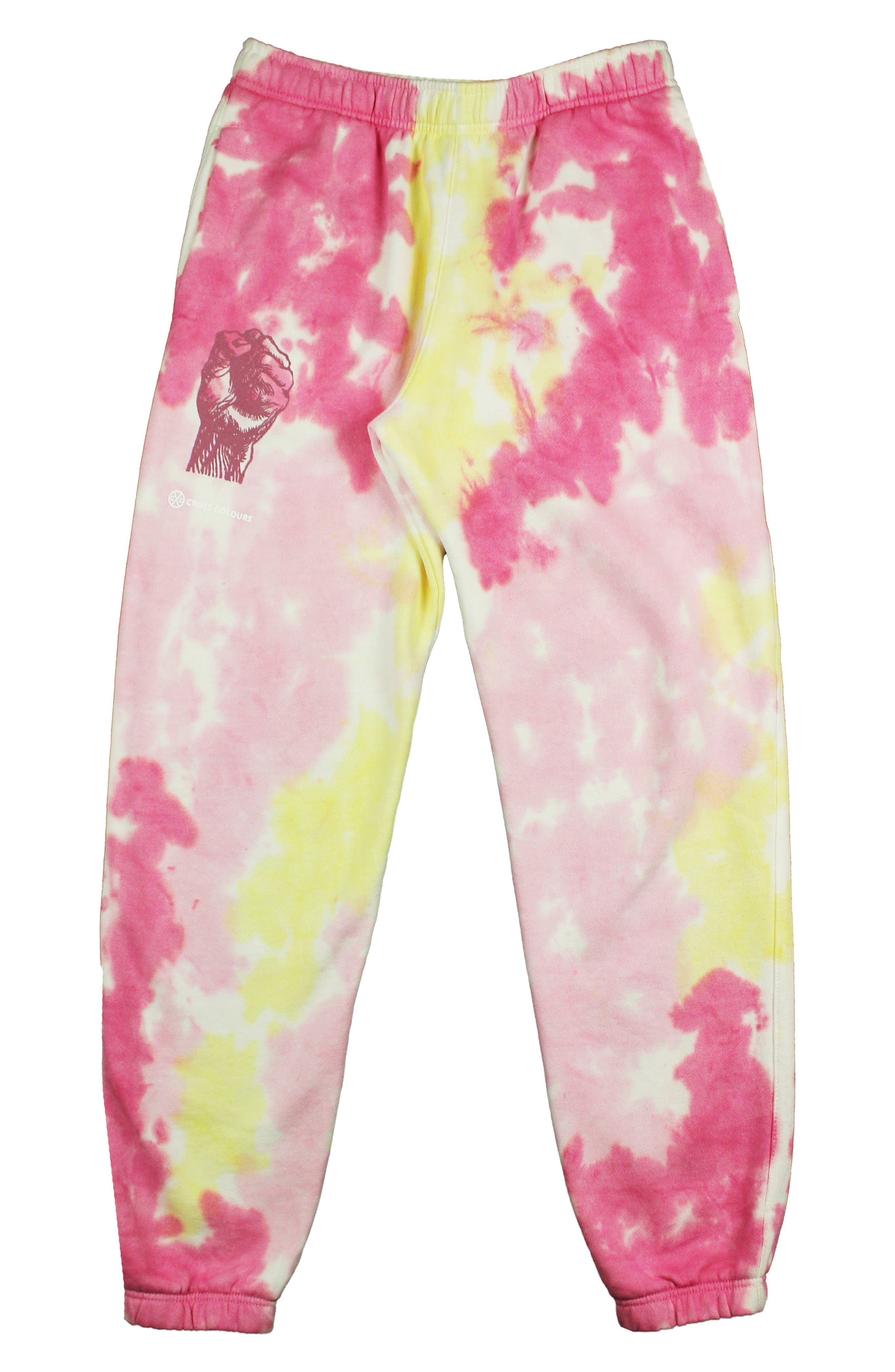 Power To The People Tie Dye Graphic Joggers