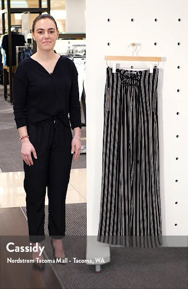 Stripe Lace-Up Wide Leg Pants, sales video thumbnail