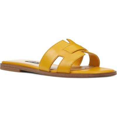 Nine West Gianna Cutout Slide Sandal- Yellow