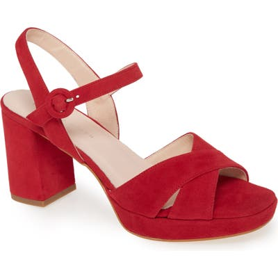Patricia Green Selma Block Heel Sandal, Red