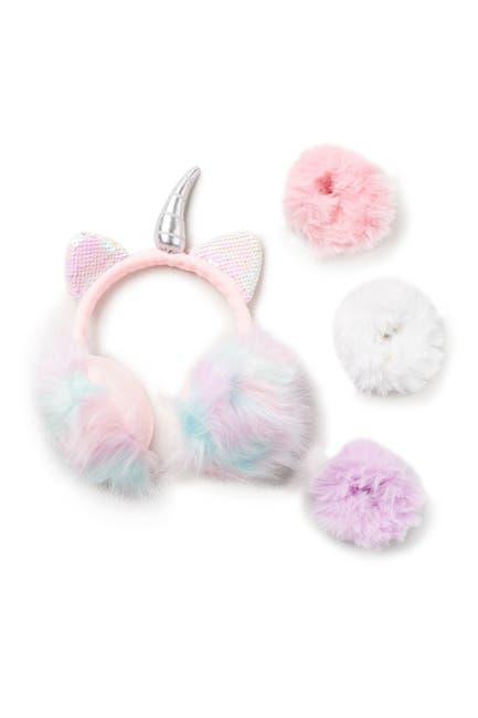 Image of Curls & Pearls Unicorn Ear Muffs & Scrunchie Set