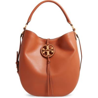 Tory Burch Miller Leather Hobo Bag - Brown