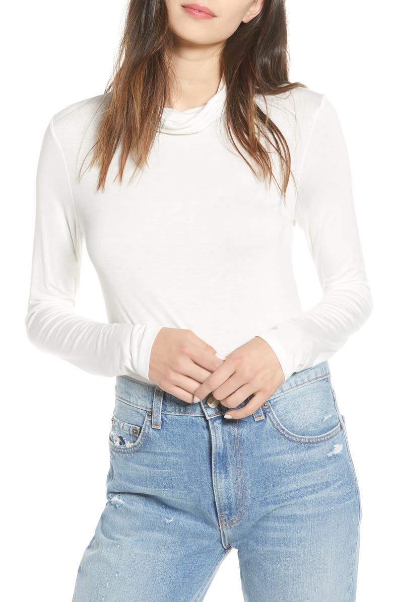 NOISY MAY Elle Turtleneck Tee, Main, color, SUGAR SWIZZLE