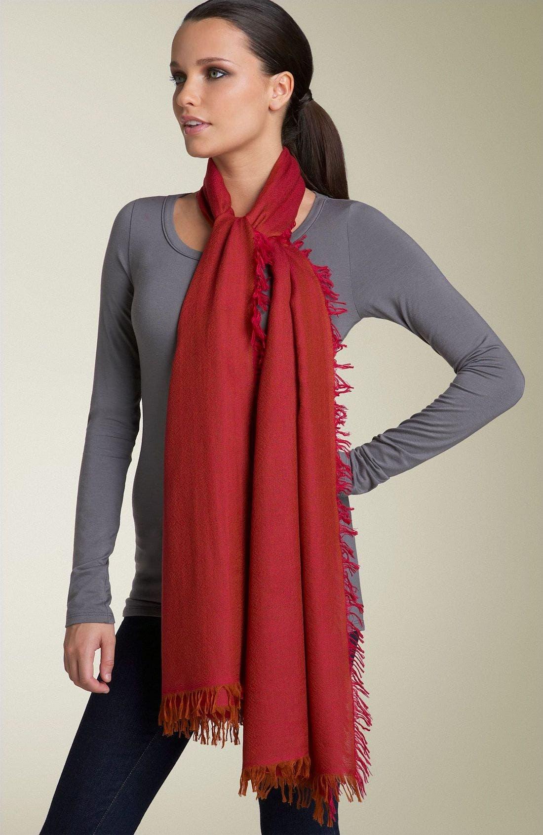 ,                             'Eyelash' Colorblock Cashmere Wrap,                             Alternate thumbnail 85, color,                             650