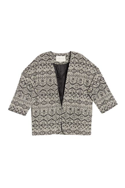 Image of FRNCH Jacquard Geo Design Cropped Jacket
