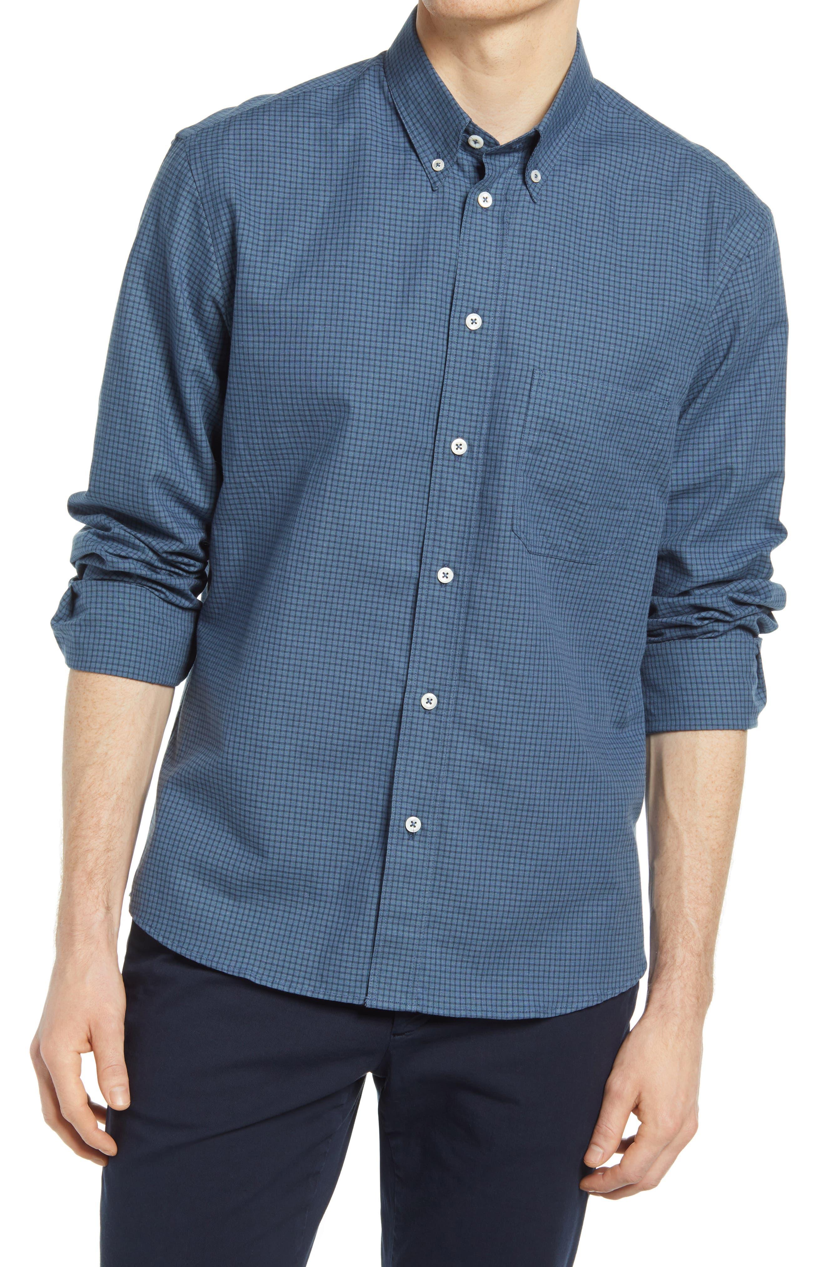 Tuscumbia Check Cotton & Linen Button-Down Shirt