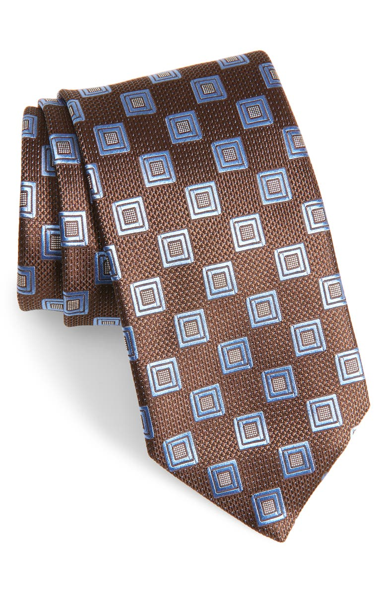 CANALI Medallion Silk X-Long Tie, Main, color, 200