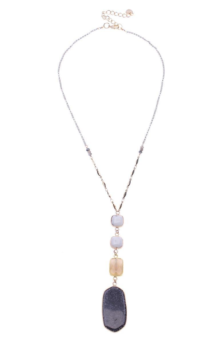 Nakamol Design Semiprecious Stone Y Necklace