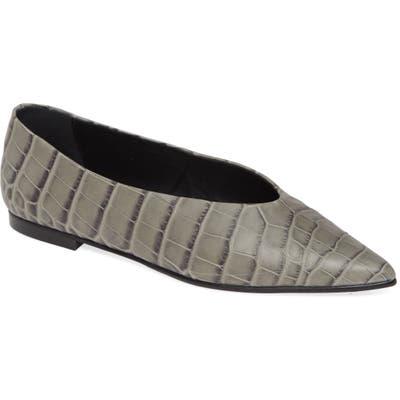 Freda Salvador Yvette Pointy Toe Flat, Grey