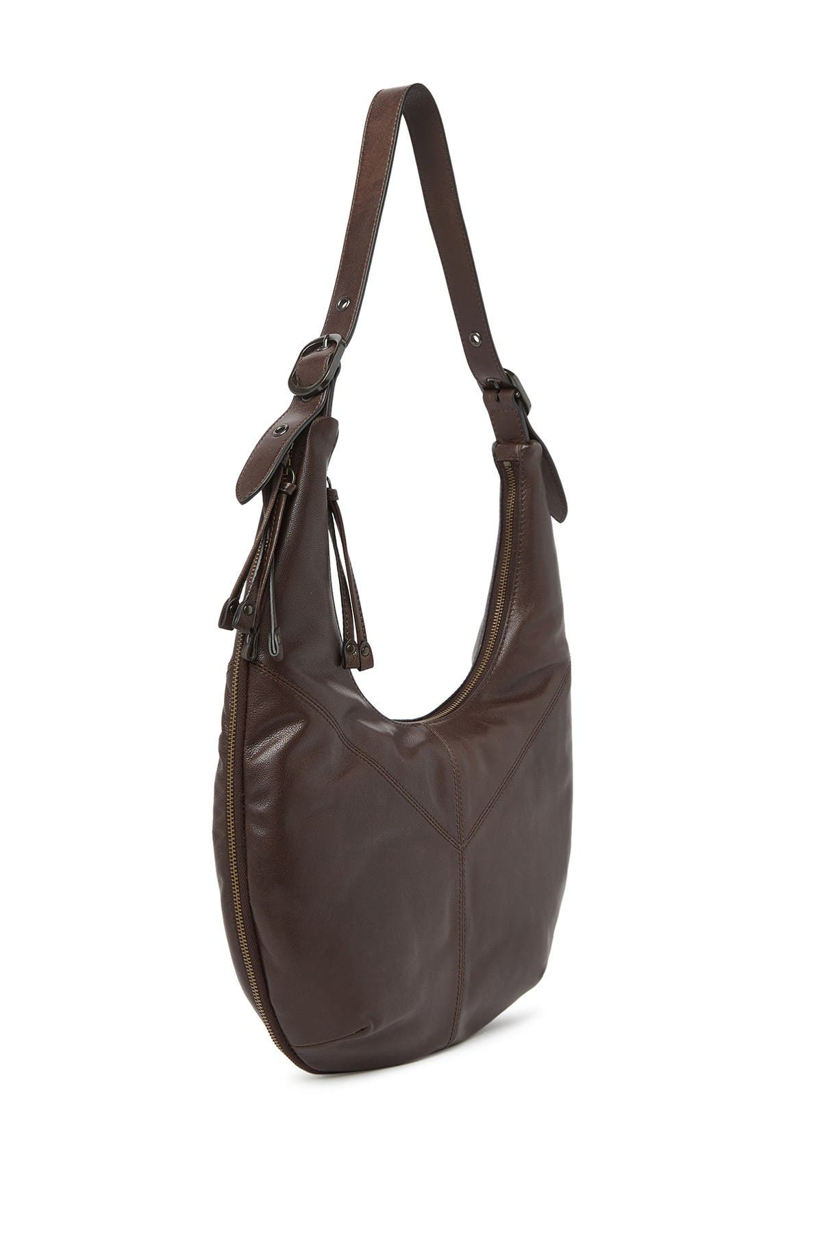 Image of Frye Gina Leather Hobo Bag