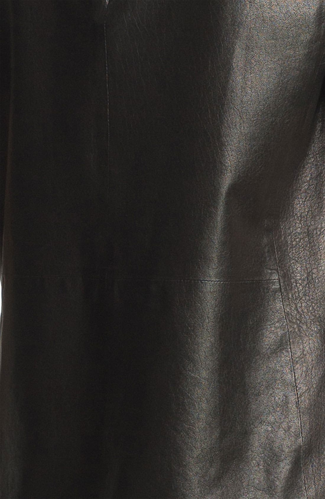 ,                             Leather Tee,                             Alternate thumbnail 5, color,                             001