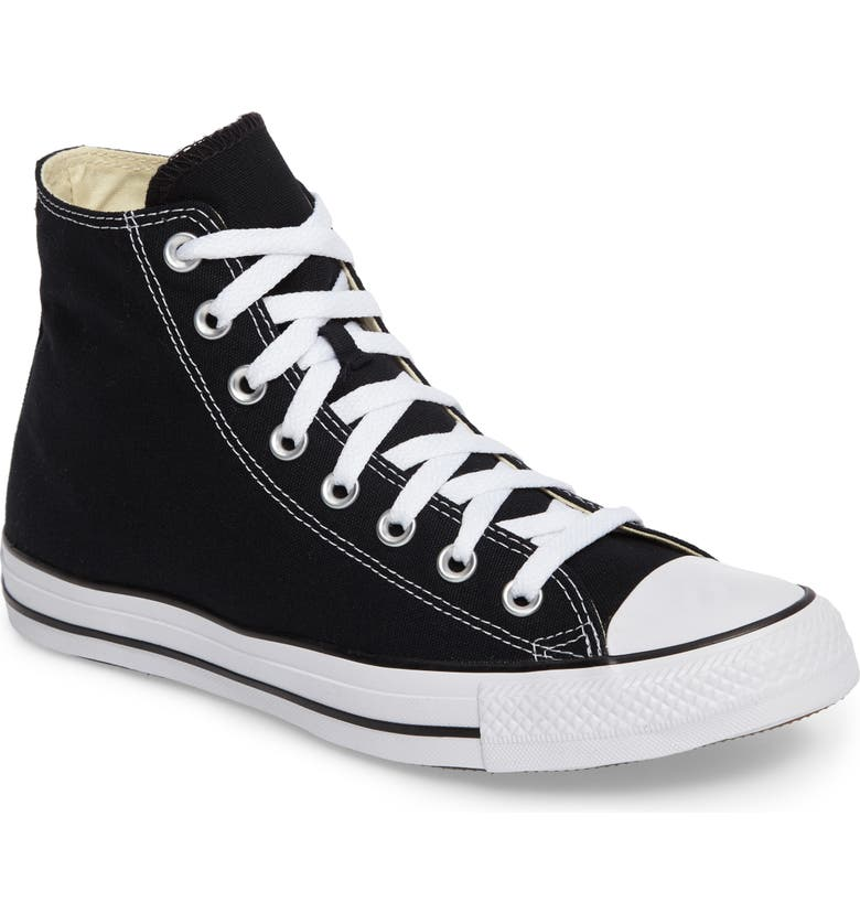 CONVERSE Chuck Taylor<sup>®</sup> High Top Sneaker, Main, color, BLACK