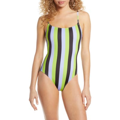 Solid & Striped The Nina One-Piece Swimsuit, Purple