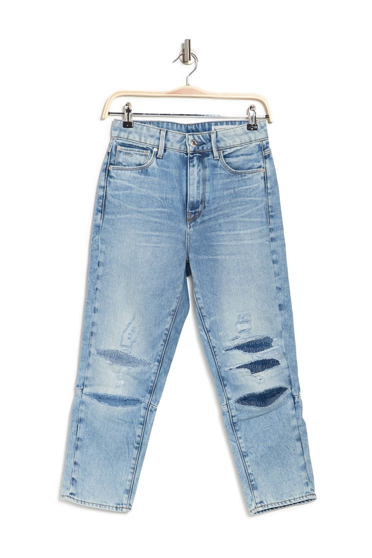 Image of G-STAR RAW Ultra High Rise Straight Leg Distressed Jeans