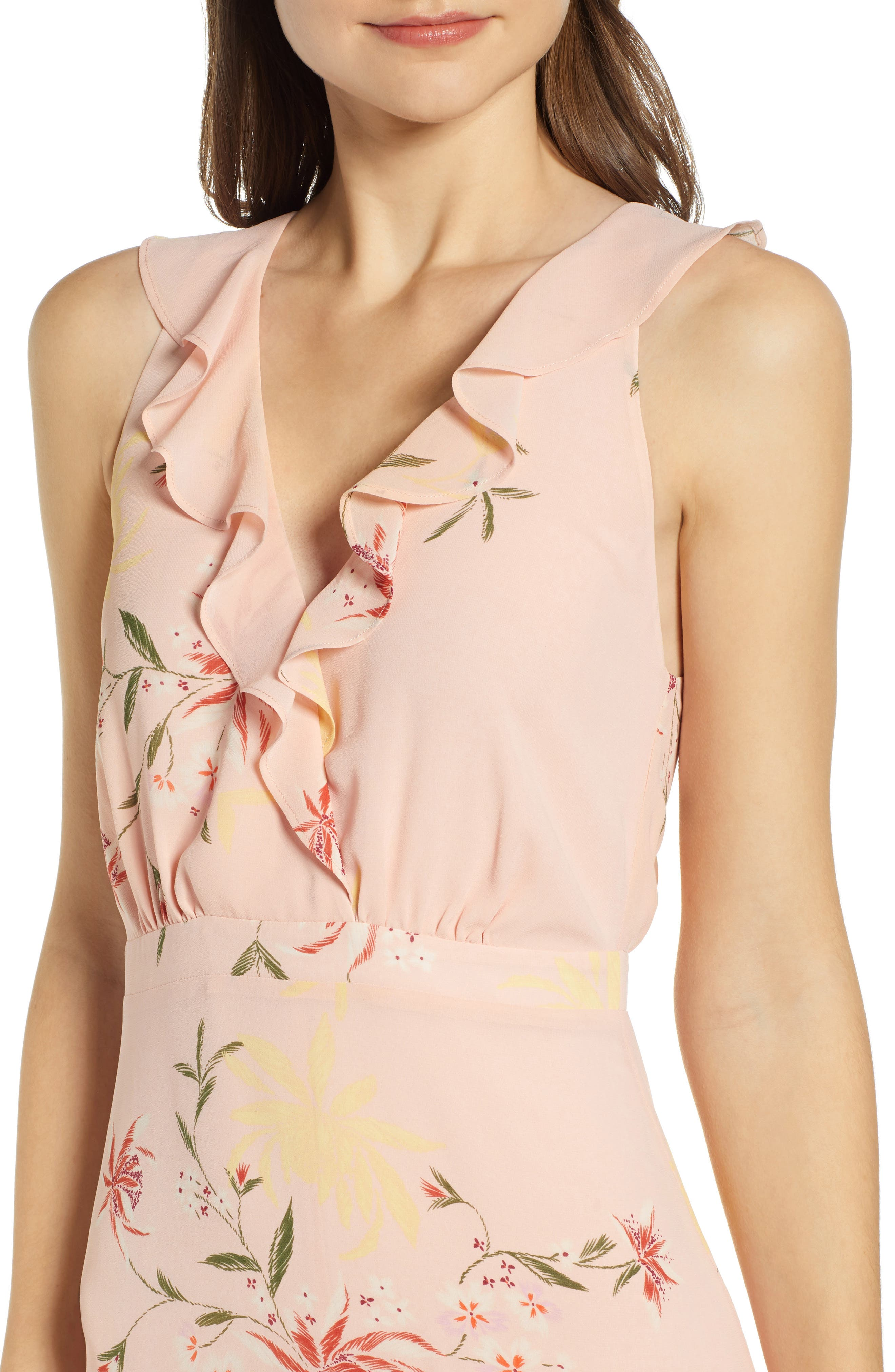 ,                             Ruffle Detail High/Low Sleeveless Maxi Dress,                             Alternate thumbnail 5, color,                             950