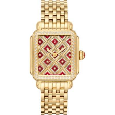 Michele Deco Mosaic Diamond Watch Head & Interchangeable Bracelet, 3m X 35Mm