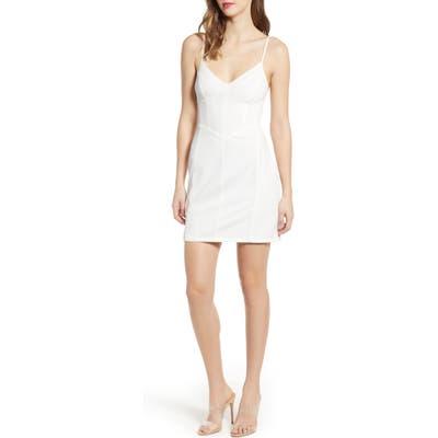 Tiger Mist Lydia Body-Con Minidress, White