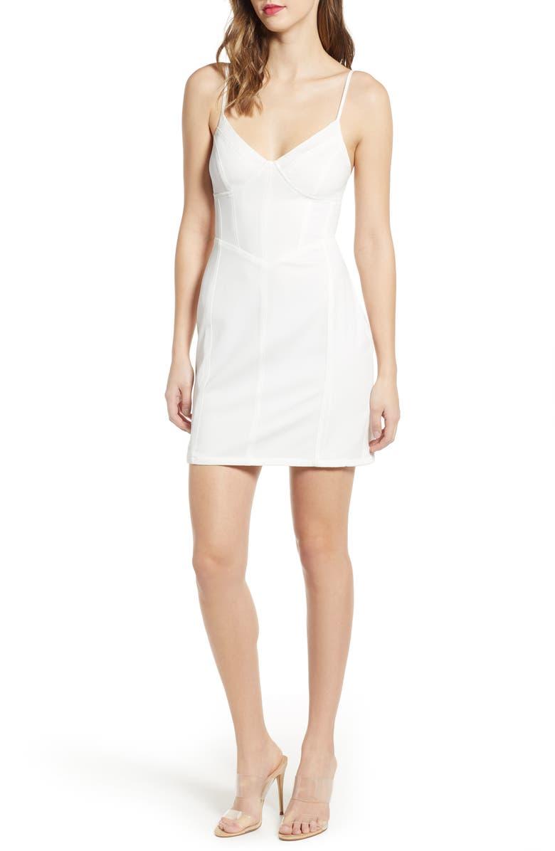 TIGER MIST Lydia Body-Con Minidress, Main, color, 100