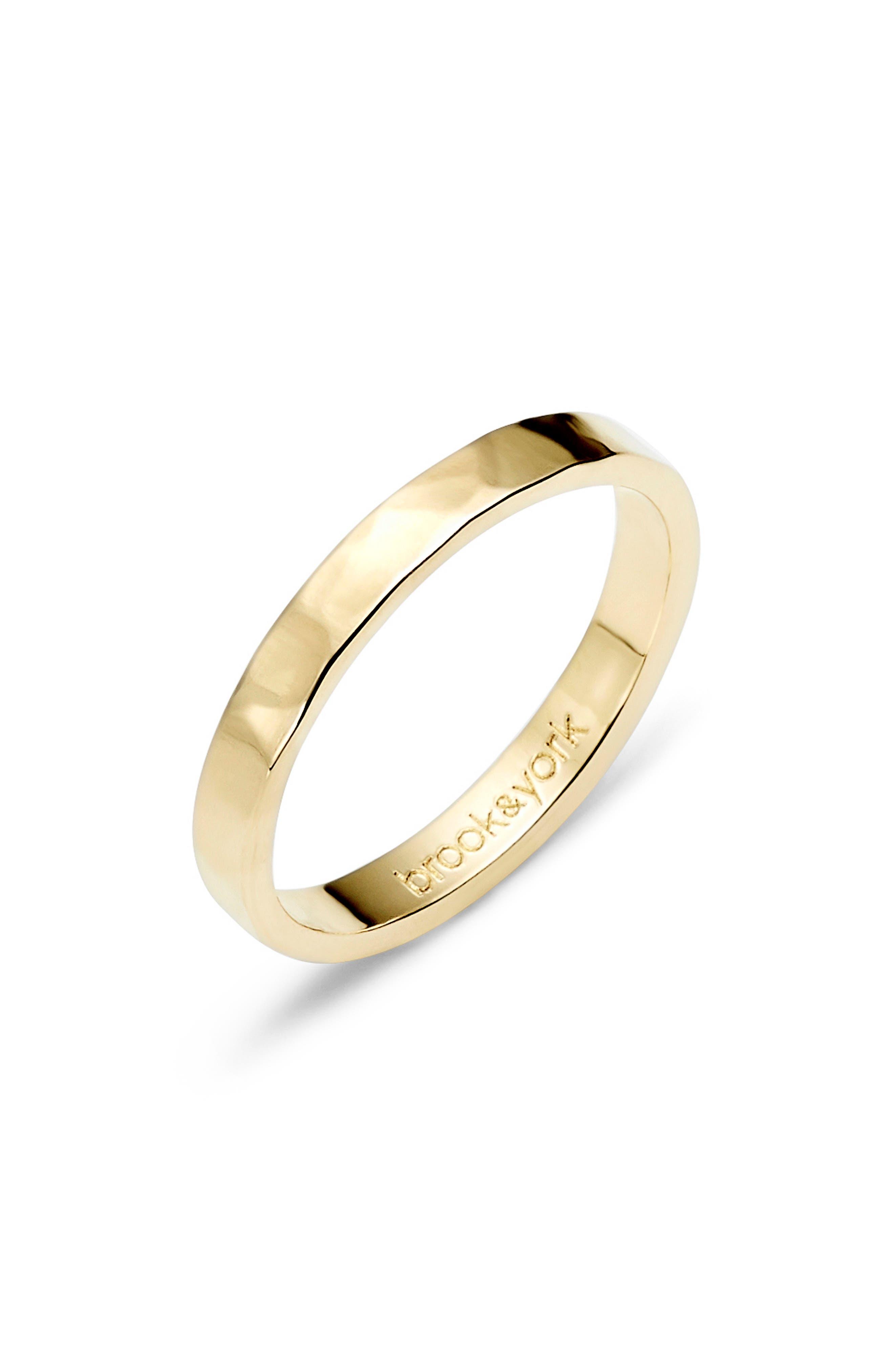 Maren Thin Hammered Stacking Ring