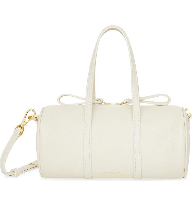 MANSUR GAVRIEL Mini Mini Leather Duffle Bag, Main, color, CREME