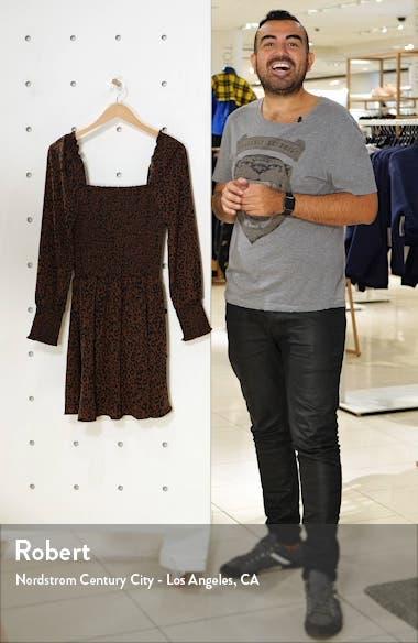Smocked Long Sleeve Minidress, sales video thumbnail