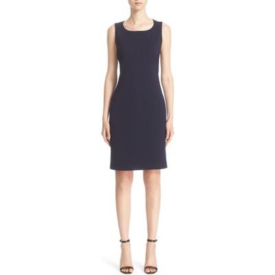 St. John Collection Milano Knit Sheath Dress, Blue