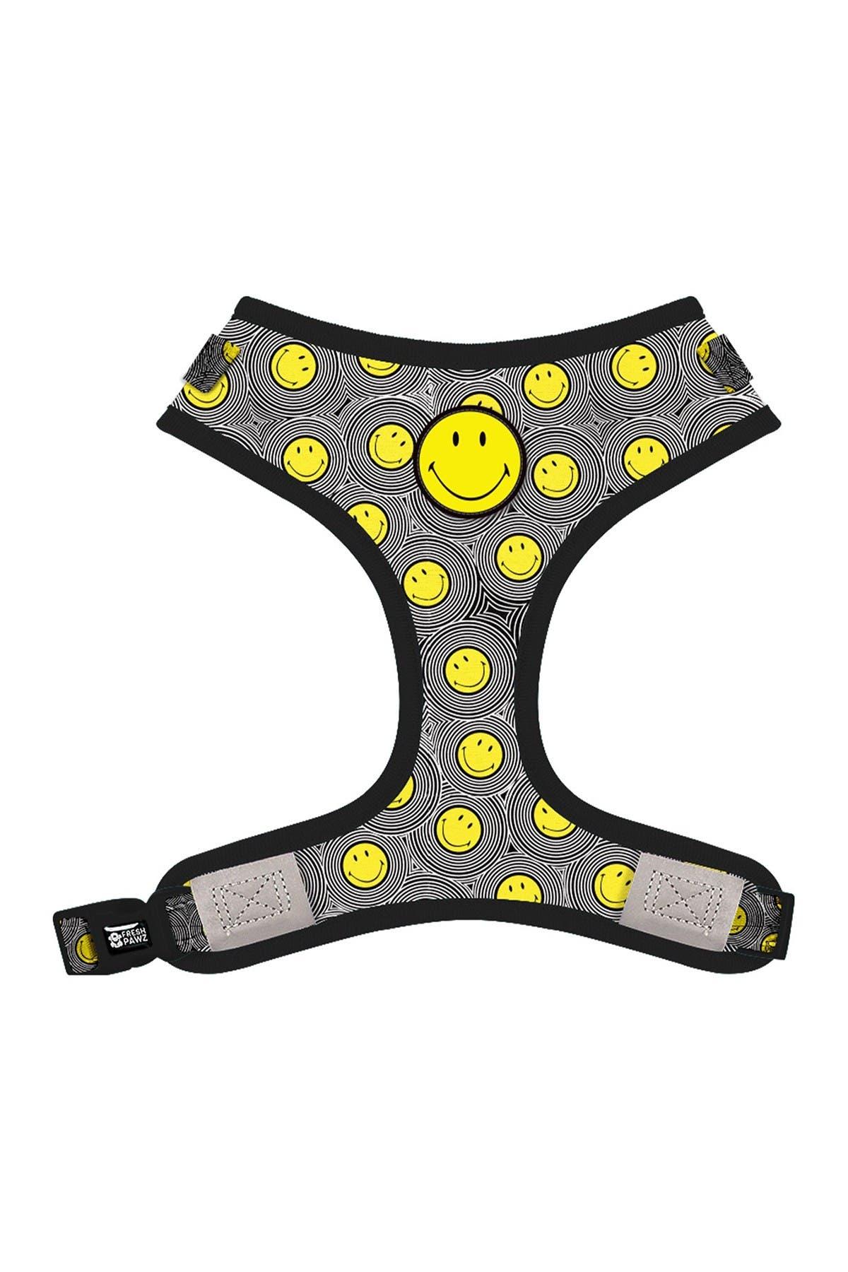 Image of FRESH PAWZ Smiley X Fresh Pawz - Happy Collection Adjustable Mesh Harness - Large