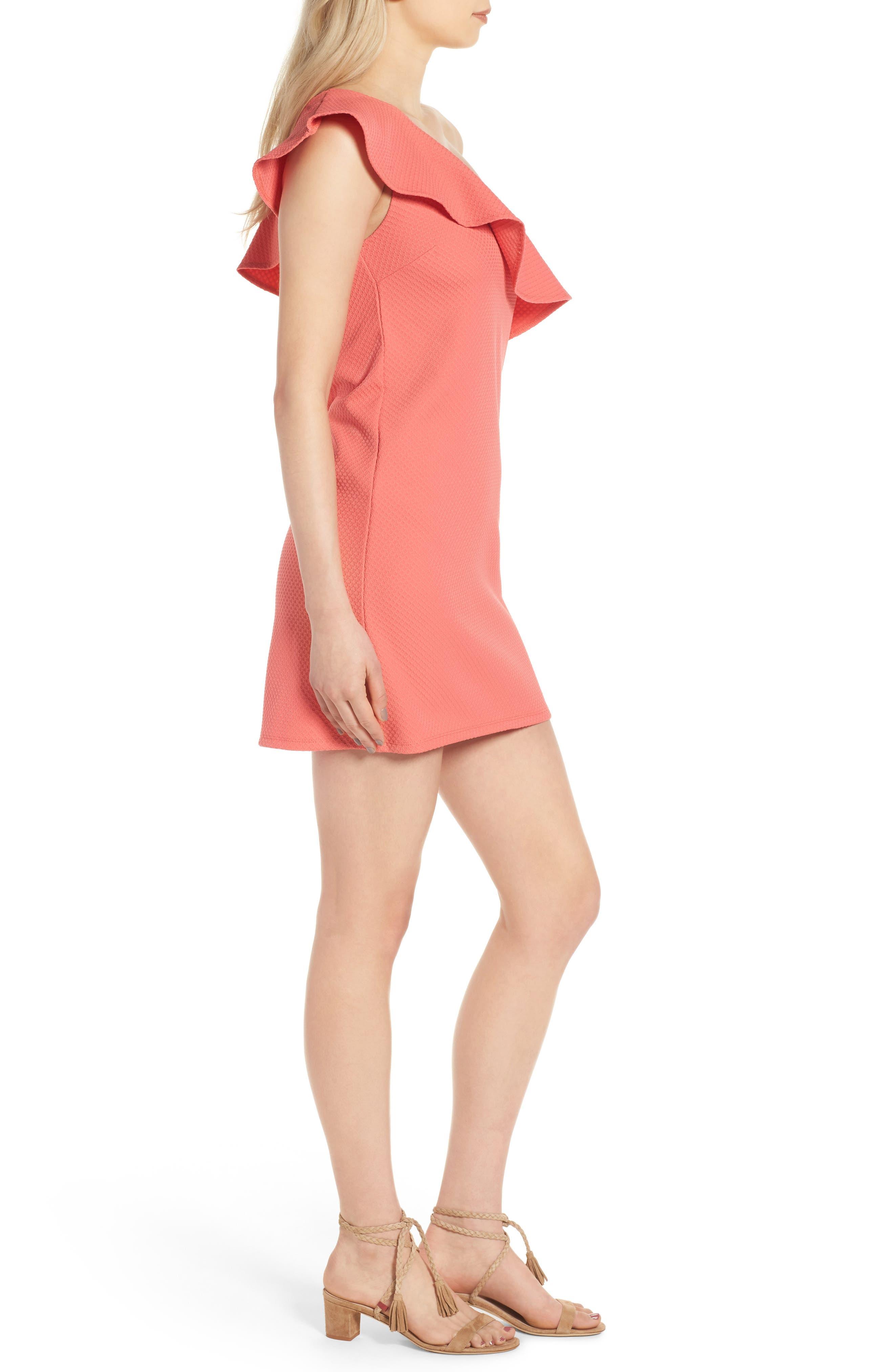 ,                             Ruffle One-Shoulder Dress,                             Alternate thumbnail 14, color,                             950