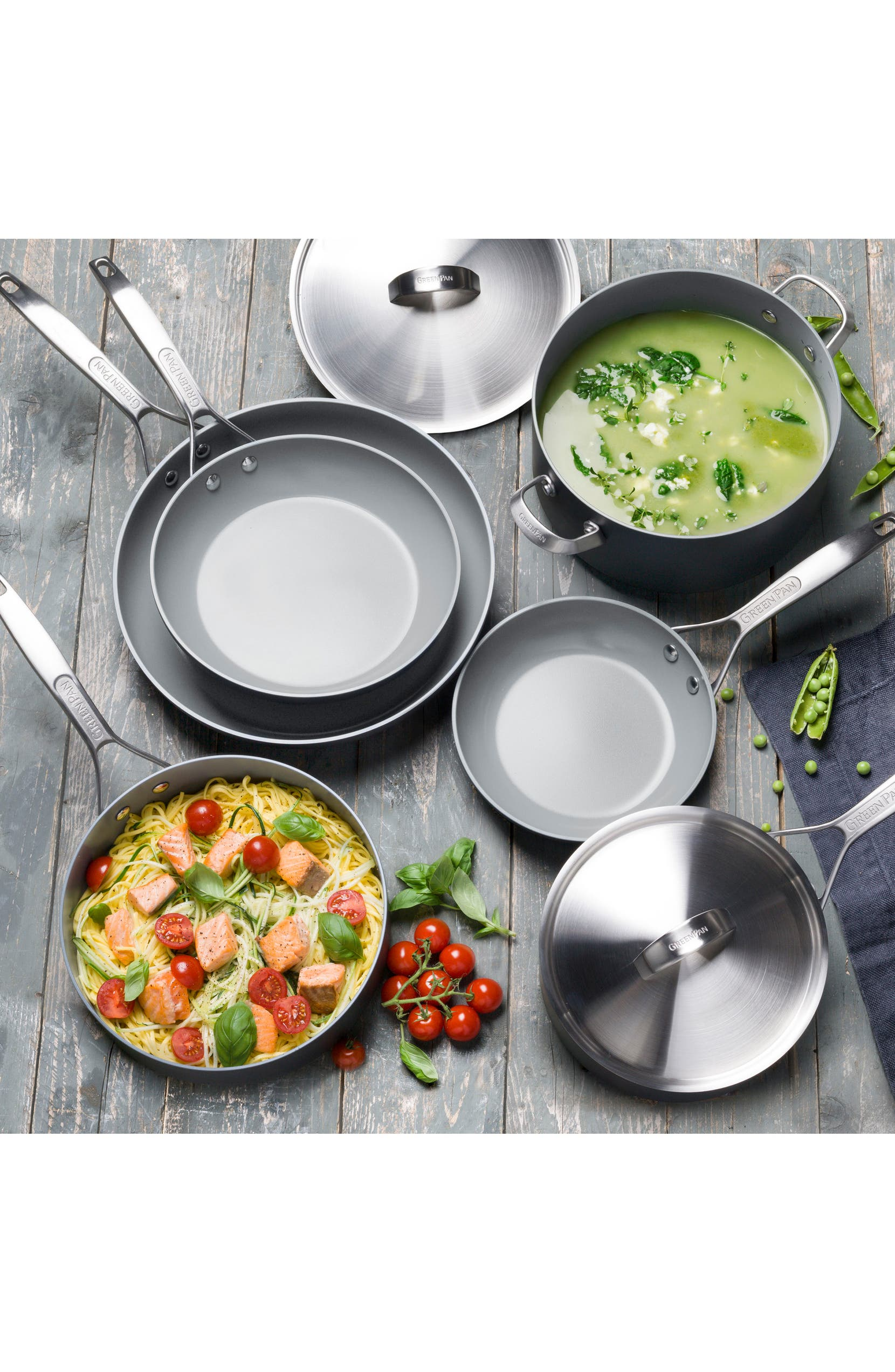 Paris Pro 11-Piece Anodized Aluminum Ceramic Cookware Set