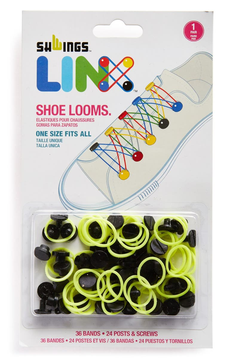 SHWINGS 'Linx' Shoe Loom Band Laces, Main, color, 001