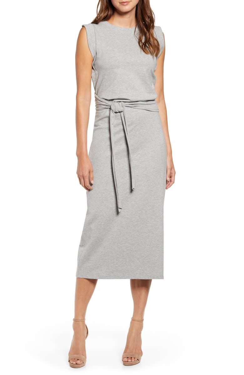 BISHOP + YOUNG French Terry Dress, Main, color, HEATHER GREY
