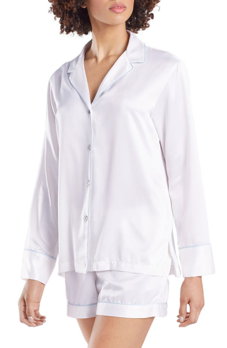 NATORI Satin Short Pajamas, Main, color, 400
