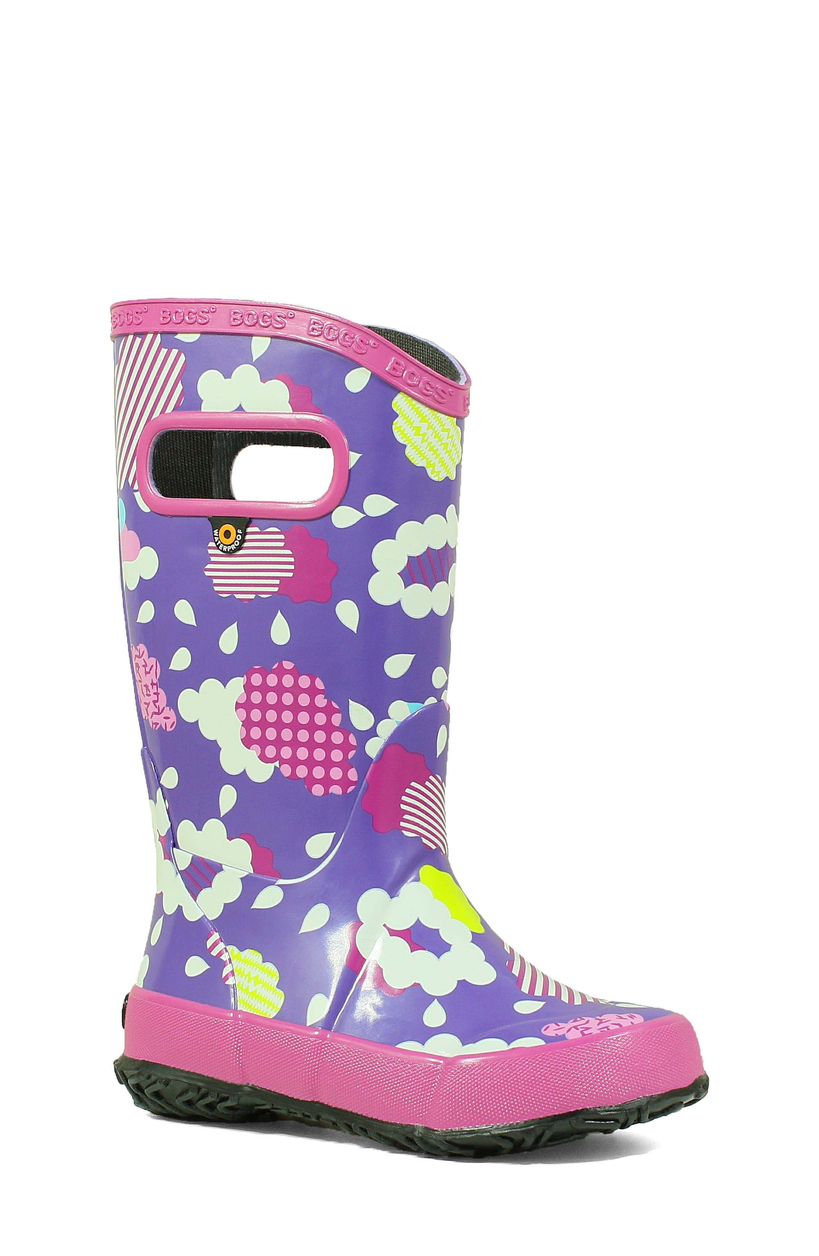 Bogs Clouds Waterproof Rain Boot