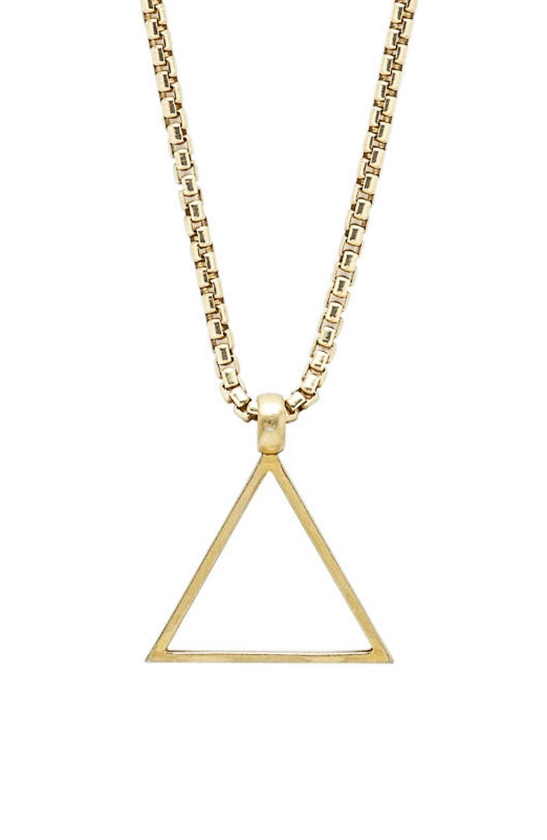 DEGS & SAL Triangle Pendant Necklace, Main, color, GOLD