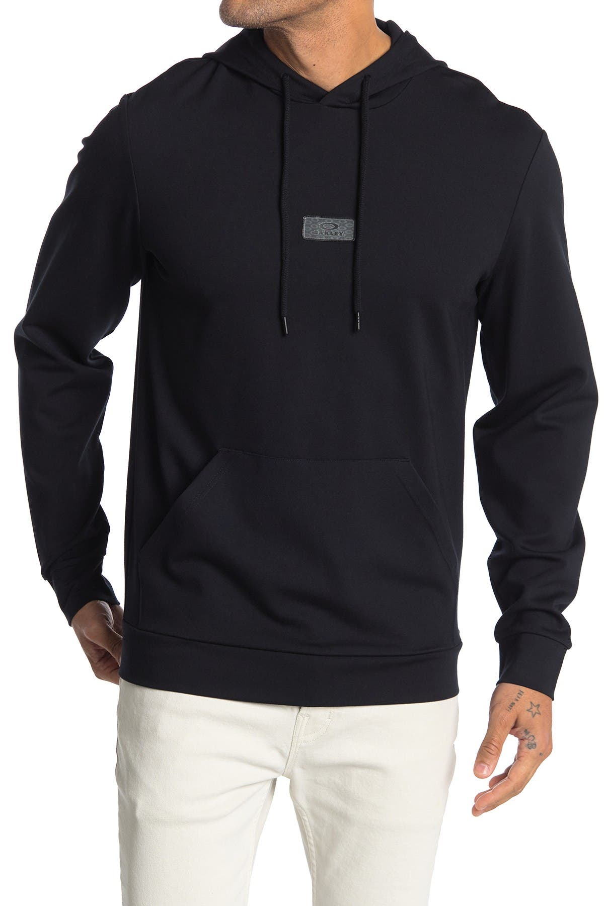 Image of Oakley Logo Patch Fleece Pullover Hoodie