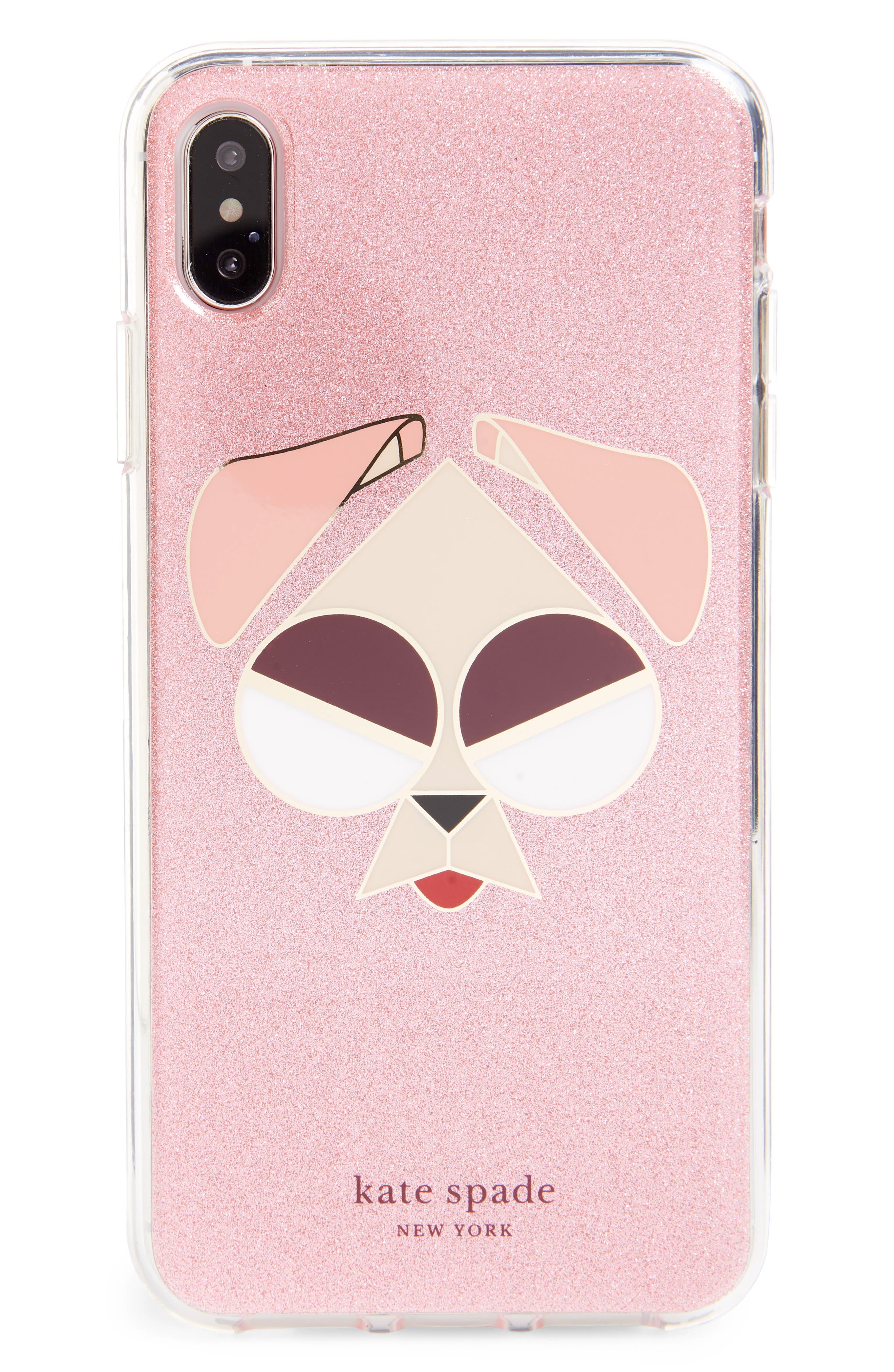Kate Spade New York Glitter Mod Dog Iphone X/xs/xr & Xs Max Case - Pink