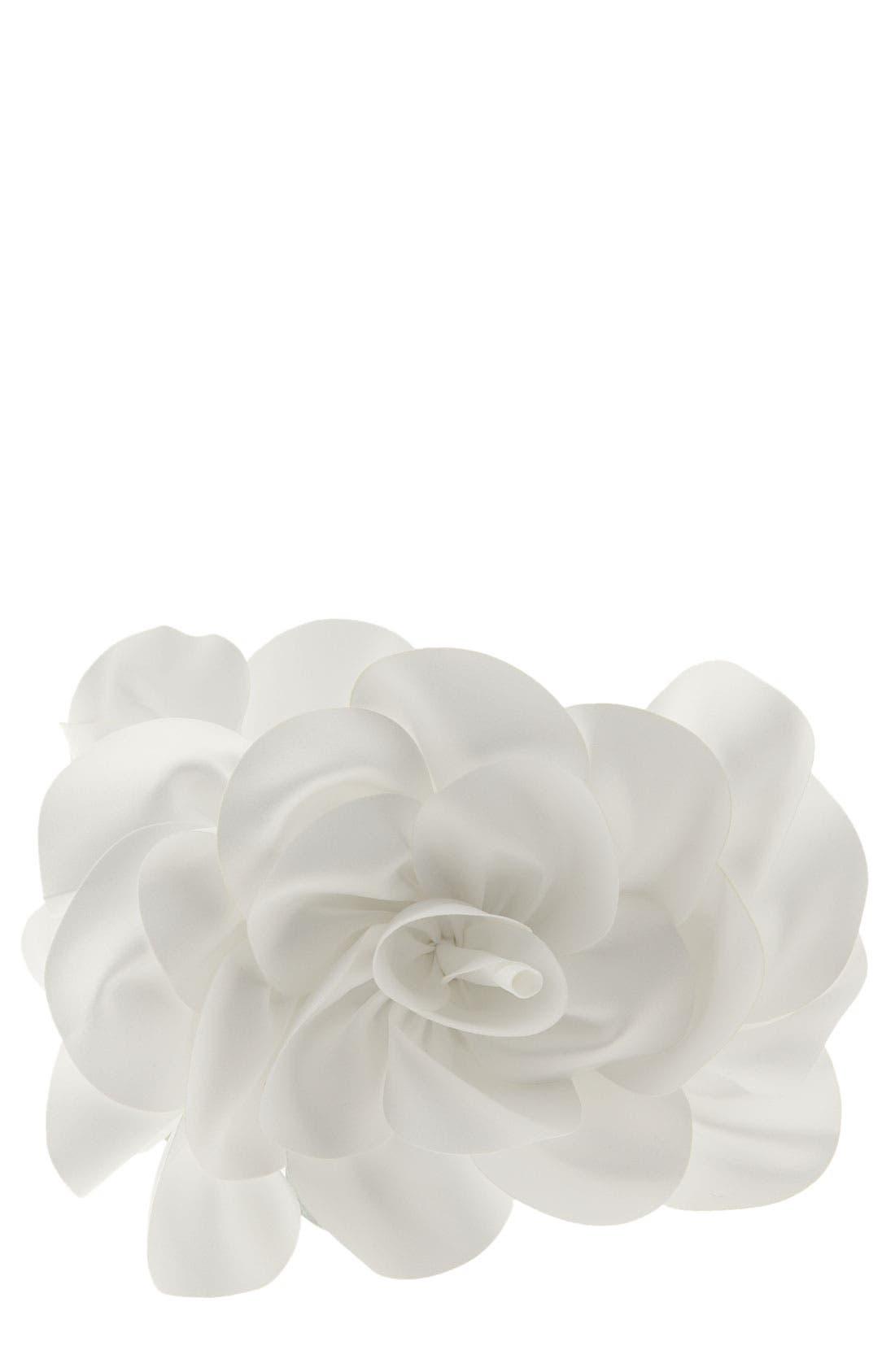 ,                             'Rose' Satin Box Clutch,                             Main thumbnail 8, color,                             100