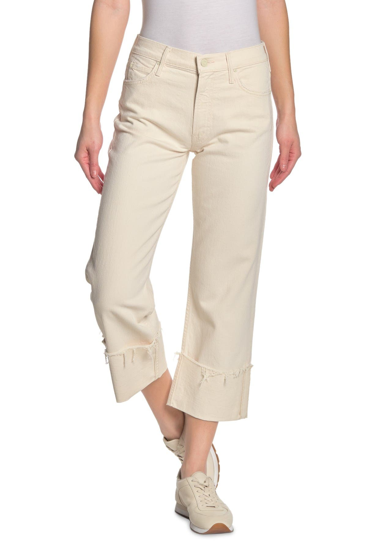 Image of MOTHER The Dusty Cuff Fray Hem Pants