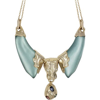 Alexis Bittar Future Antiquity Panther Head Bib Necklace