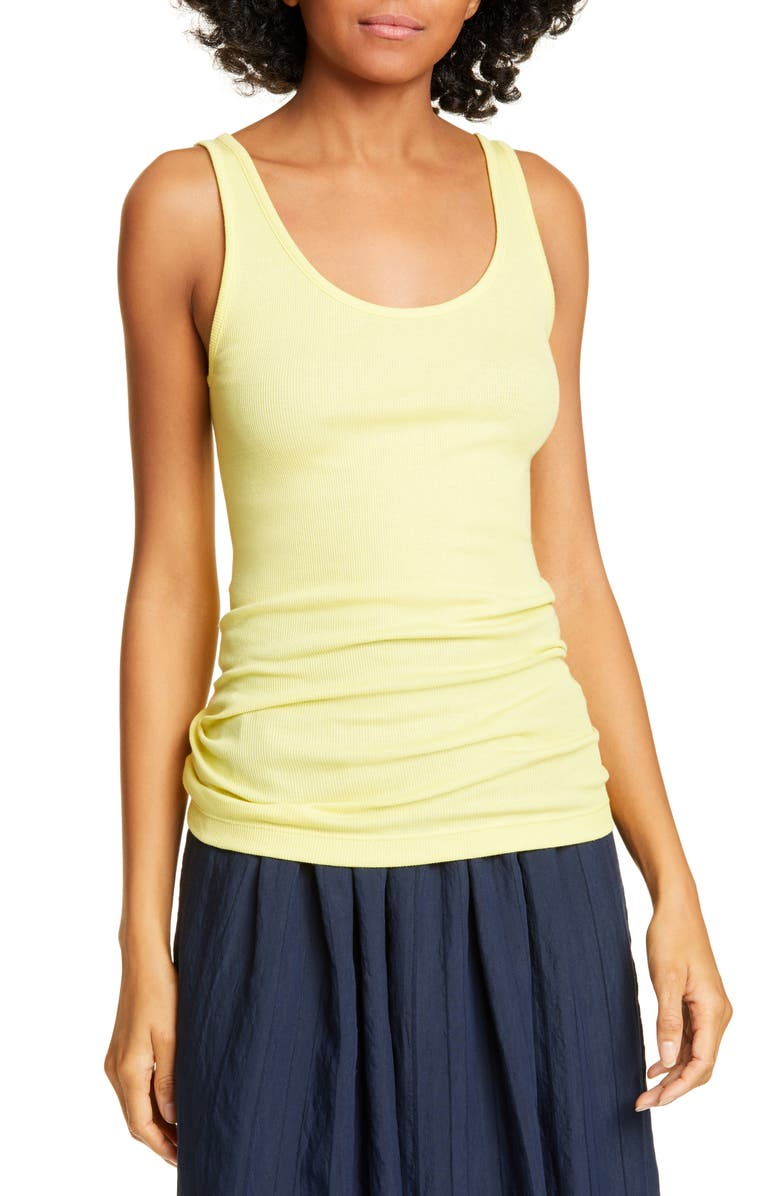 VINCE Scoop Neck Ribbed Tank, Main, color, 738