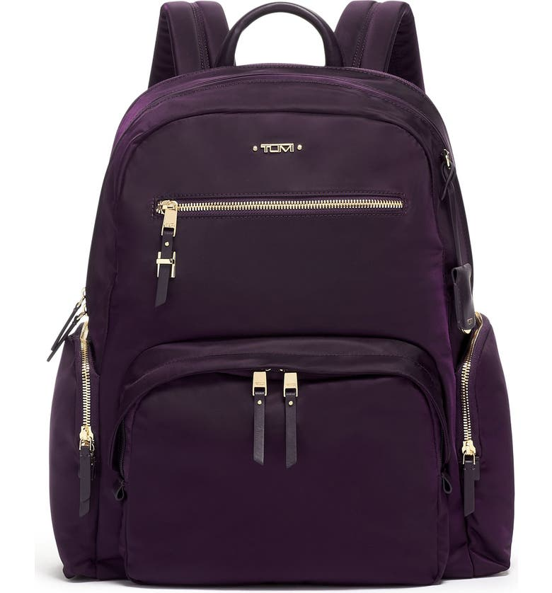 TUMI Voyager Carson Nylon Backpack, Main, color, BLACKBERRY
