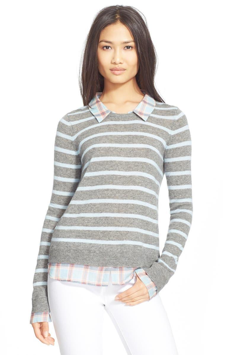 JOIE 'Rica F' Stripe Cashmere Sweater, Main, color, 090